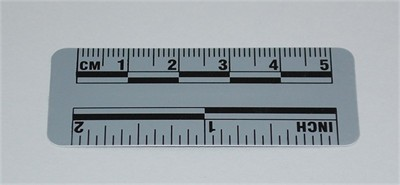 Photo Evidence Scale - Grey 50mm/2""