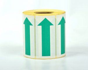 Self Adhesive Paper Arrows - 100mm Green