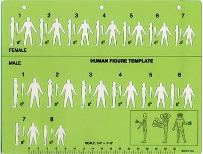 Human Figure Sketching Template
