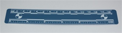 Photo Evidence Scale - Blue 150mm/6""