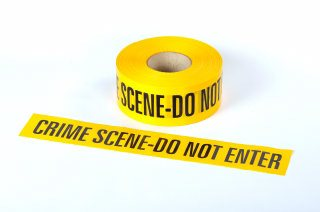 Barrier Tape - CRIME SCENE DO NOT ENTER 250M