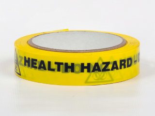 Adhesive Tape - HEALTH HAZARD -  DO NOT TOUCH