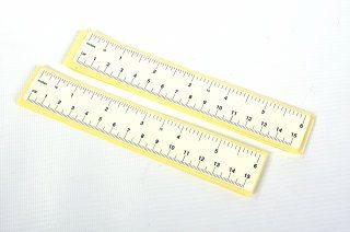 """Self Adhesive Paper Rulers - White 6"""" 100pk"""