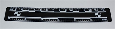 Photo Evidence Scale - Black 150mm/6""