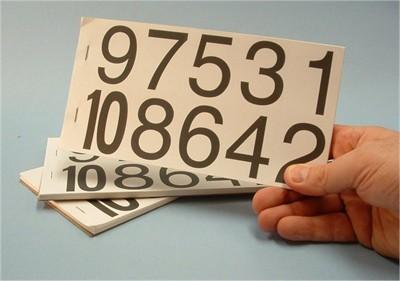 Self Adhesive Number Booklet - Large