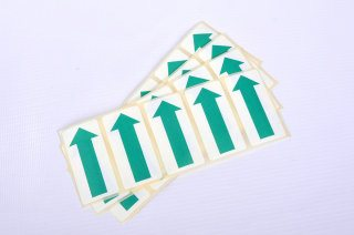 Self Adhesive Paper Arrows - 50mm Green