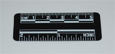Photo Evidence Scale - Black 50mm/2""