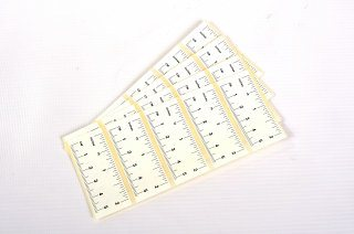 "Self Adhesive Paper Rulers - White 2"" 100pk"