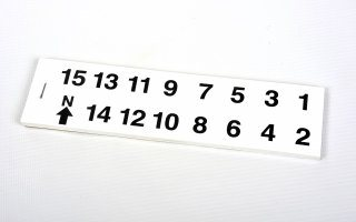 Self Adhesive Number Booklet - Small