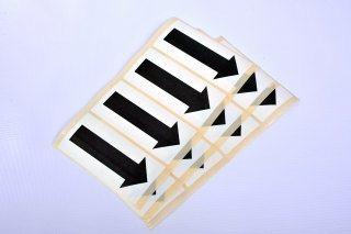 Self Adhesive Paper Arrows - 50mm Black