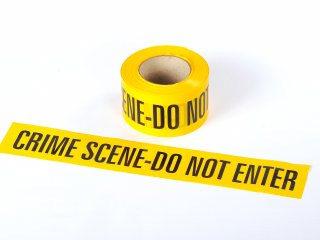 Barrier Tape - CRIME SCENE DO NOT ENTER 100M